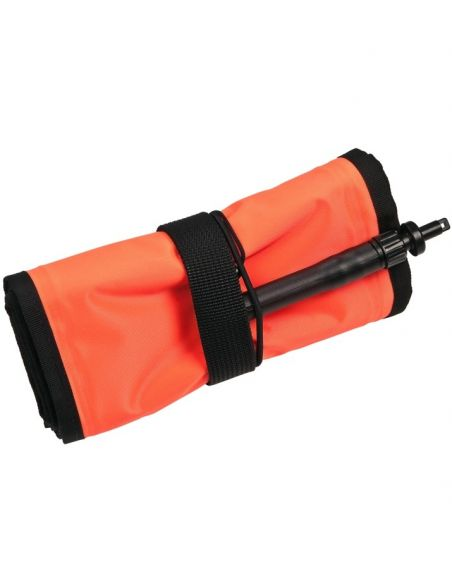 Xdeep Surface Marker Buoy Closed, Orange, 140 cm long