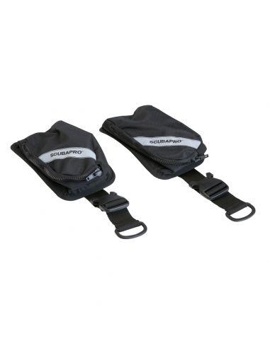 Scubapro X-One Weight Pocket Kit, Black