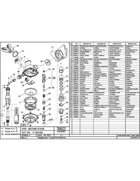 Scubapro A700 Spare Part nr.38